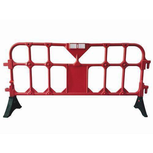 Přestavitelná plastová bariéra Manutan, 2 m, červená