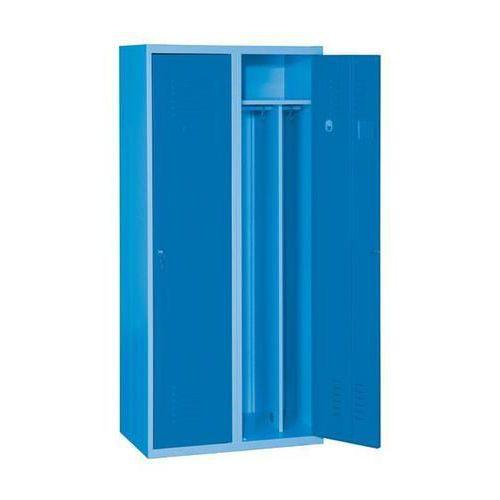 Svařovaná šatní skříň Arthur, 2 oddíly, modrá