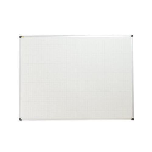 Bílá magnetická tabule Bi-Office s rastrem, 90 x 120 cm