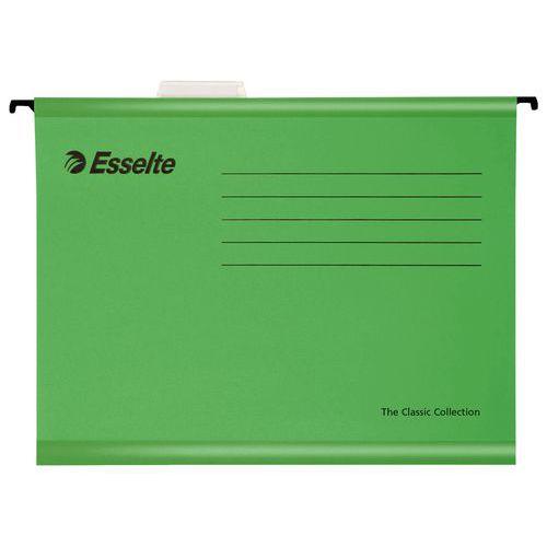 Zesílené závěsné složky Esselte Pendaflex, 25 ks, zelené