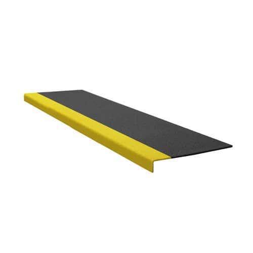 Protiskluzový profil na schody, úzký, černo-žlutý, 100 cm