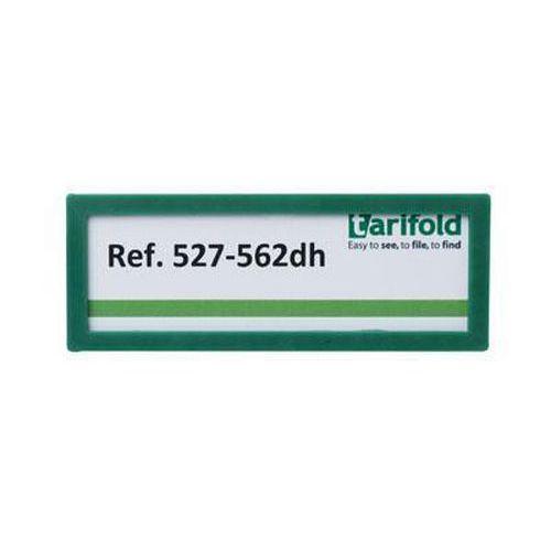 Informační rámeček Tarifold 12 x 4,5 cm, samolepicí, zelený