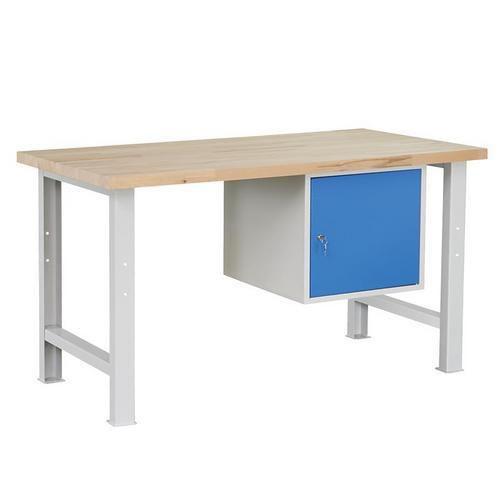 Dílenský stůl Weld se skříňkou 41 cm, 84 x 150 x 80 cm, šedý - Prodloužená záruka na 10 let
