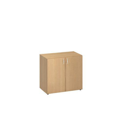 Nízká široká skříň Alfa 500, 74,2 x 80 x 47 cm, s dvířky, dezén