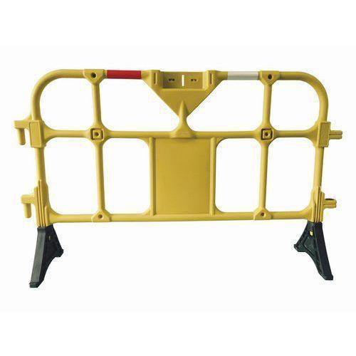 Přestavitelná plastová bariéra Manutan, 1,5 m, žlutá