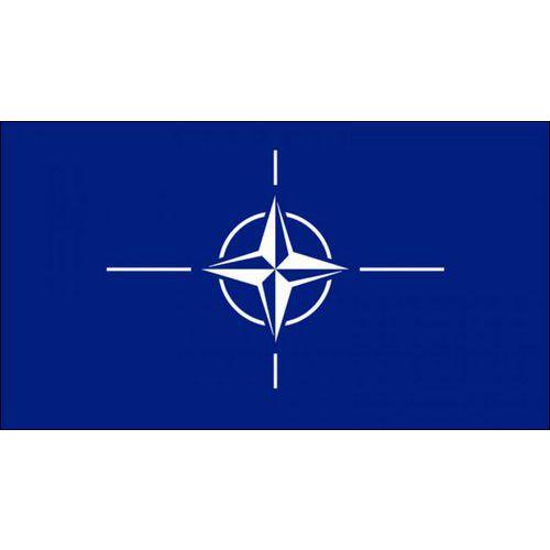 Malá státní vlajka, s očkem pro zavěšení, 16 x 11 cm, NATO
