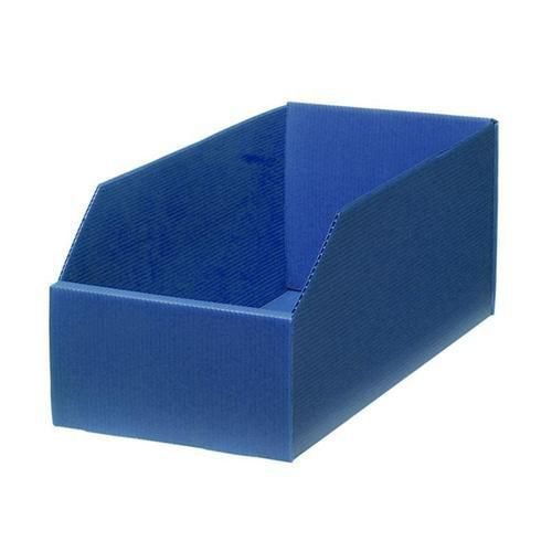Plastový box PP, 15,5 x 18 x 38 cm, modrý