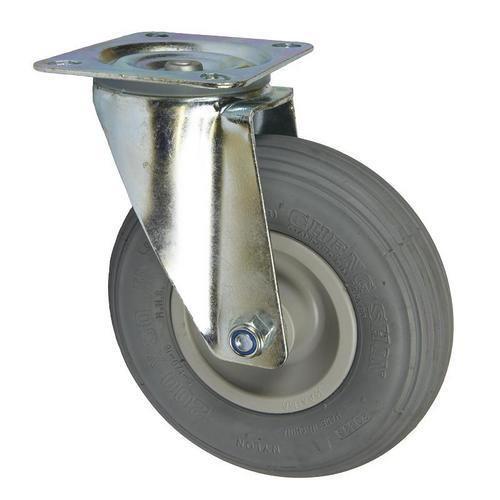 Bantamové kolo s přírubou, průměr 200 mm, otočné, valivé ložisko