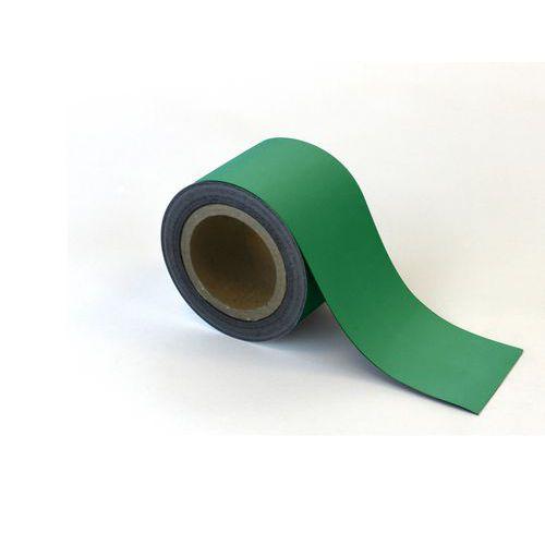 Magnetická páska na regály Manutan, 10 m, zelená, šířka 90 mm