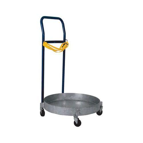 Podvozek pro sudy, s madlem a plechovou vanou, do 200 kg