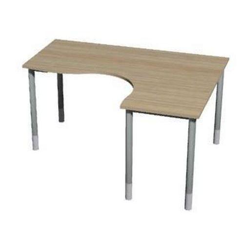 Roh kancelářský stůl Gemi line, 180/80 x 140/65 x 70-90 cm, pravé provedení, světlé dřevo