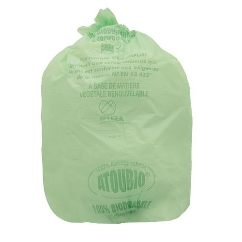 Bio pytel na odpad, 110 l, tloušťka 36 mic, 100 ks