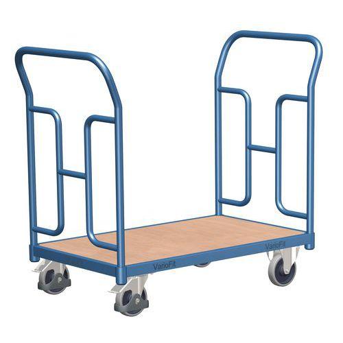 Plošinový vozík se dvěma vyztuženými madly, do 250 kg, 92,7 x 10