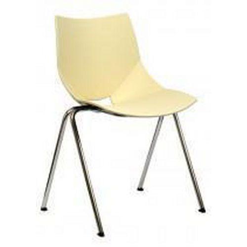 Plastová jídelní židle Shell, béžová