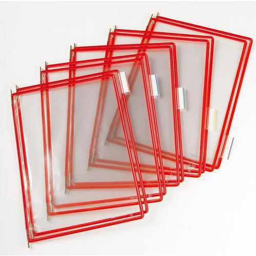 Informační rámečky Tarifold A4, 10 ks, červené