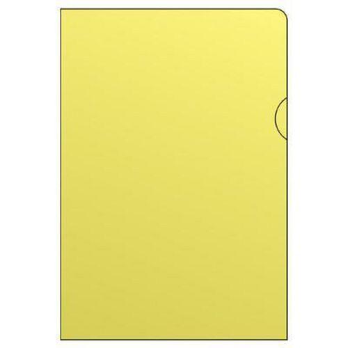 Barevné zakládací obaly L, hladké, 100 ks, žluté