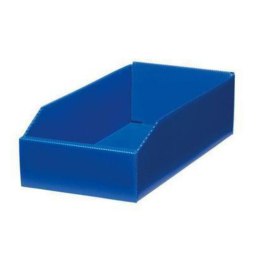 Plastový box PP, 10,5 x 18 x 38 cm, modrý
