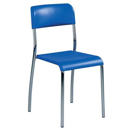 Plastová jídelní židle Paula, modrá