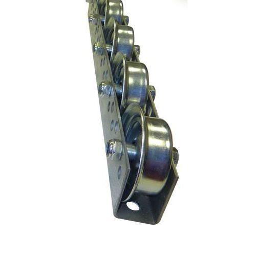 Univerzální kladičková lišta, ocel, šířka 41 mm, rozteč 100 mm,