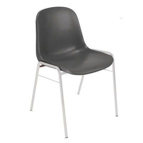 Plastová jídelní židle Manutan Shell, tmavě šedá