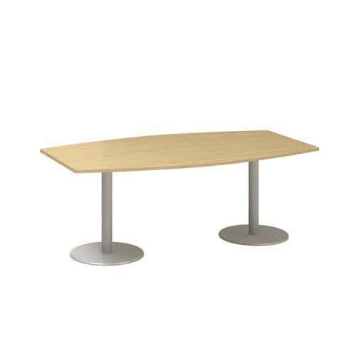 Alfa Office Konferenční stůl Alfa 400, 200 x 110 x 74,2 cm, dezén divoká hruška - Prodloužená záruka na 10 let