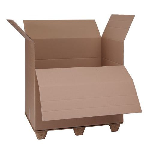 Kartonová krabice s výklopným čelem, 1100 x 1200 x 800 mm