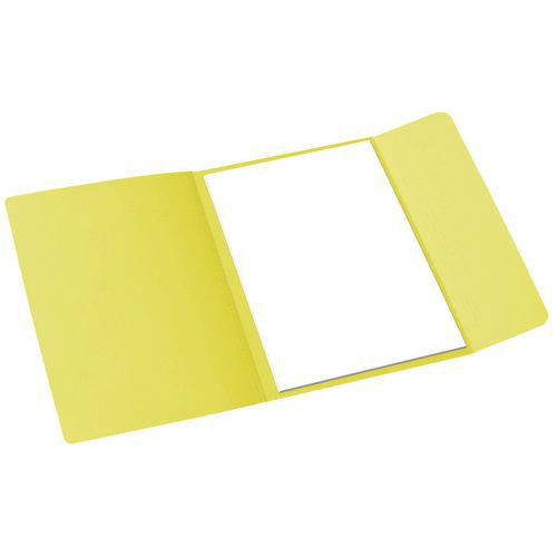 Papírové spisové desky Cloud, 100 ks, žluté