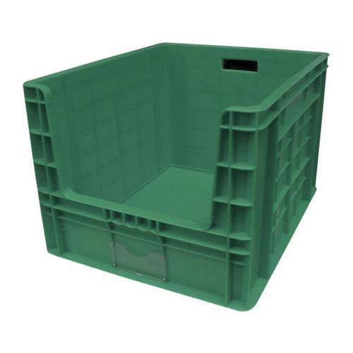 Plastová přepravka PP s vkladovým oknem, 97 l, zelená - Prodloužená záruka na 10 let