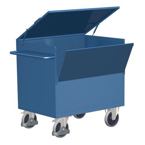 Uzavíratelný skříňový vozík s madlem a plnými stěnami, do 500 kg
