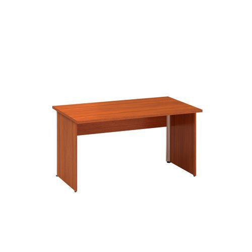Alfa Office Kancelářský stůl Alfa 100, 140 x 80 x 73,5 cm, rovné provedení, dezén třešeň - Prodloužená záruka na 10 let