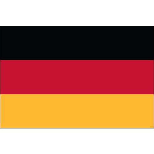 Malá státní vlajka, s očkem pro zavěšení, 16 x 11 cm, Německo