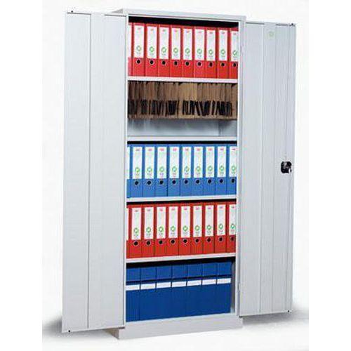 Kovová spisová skříň, 4 police, 195 x 120 x 42,2 cm