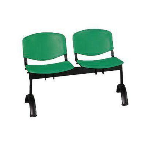 Lavice ISO Plast, dvoumístná, zelená