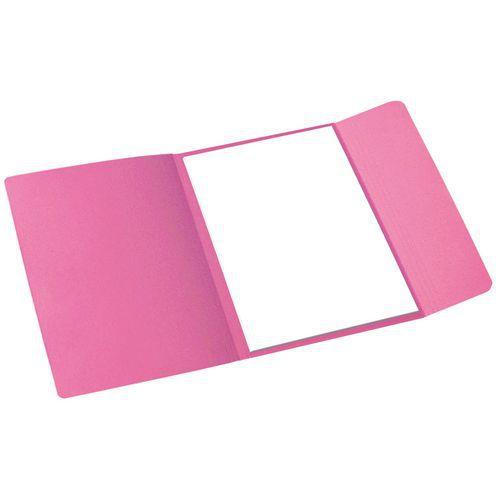 Papírové spisové desky Cloud, 100 ks, růžové