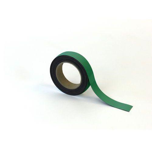 Popisovatelná páska na regály, magnetická, zelená, 3 x 1000 cm
