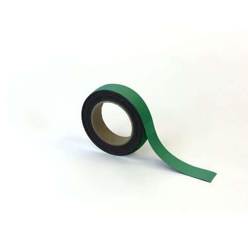 Magnetická páska na regály Manutan, 10 m, zelená, šířka 30 mm
