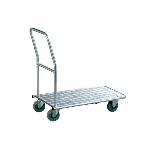 Plošinový vozík Alu s madlem, do 150 kg