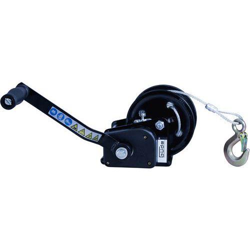 Ruční lanový naviják s automatickou brzdou, do 720 kg
