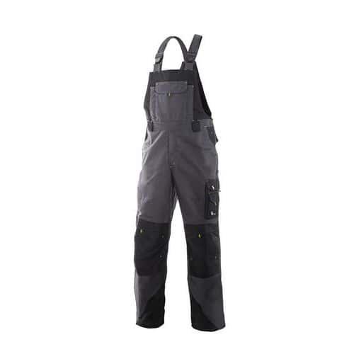 Pánské montérkové kalhoty CXS Sirius Tristan s laclem, šedé/čern