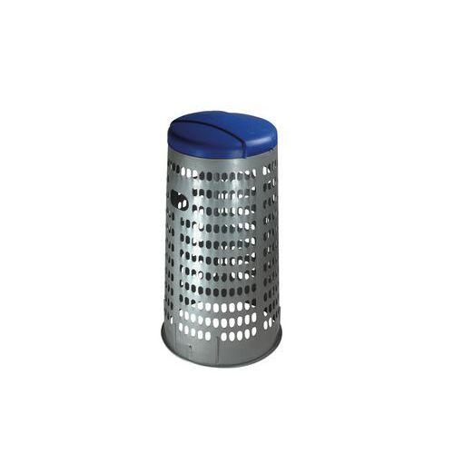 Stojan ECO na odpadkové pytle s víkem, modrý