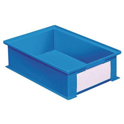 Barevná plastová přepravka PS (16,2 l), modrá
