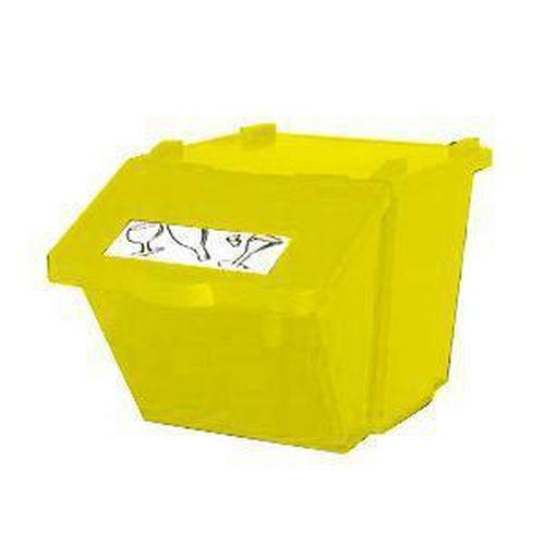 Plastový odpadkový koš na tříděný odpad, objem 45 l, žlutý - Prodloužená záruka na 10 let
