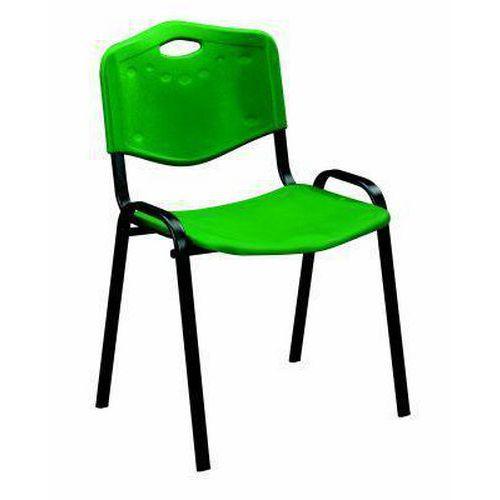 Plastová jídelní židle ISO, zelená