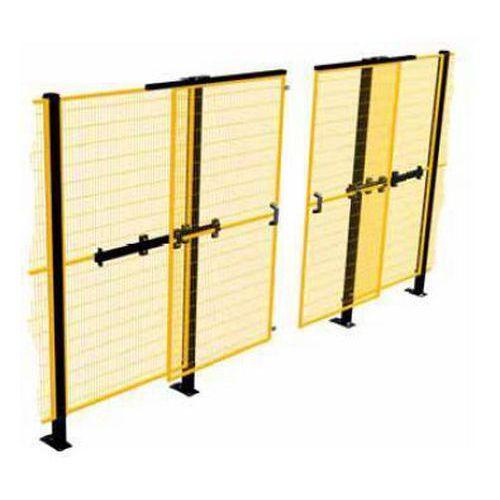 Posuvné dvoukřídlé dveře k ochrannému oplocení