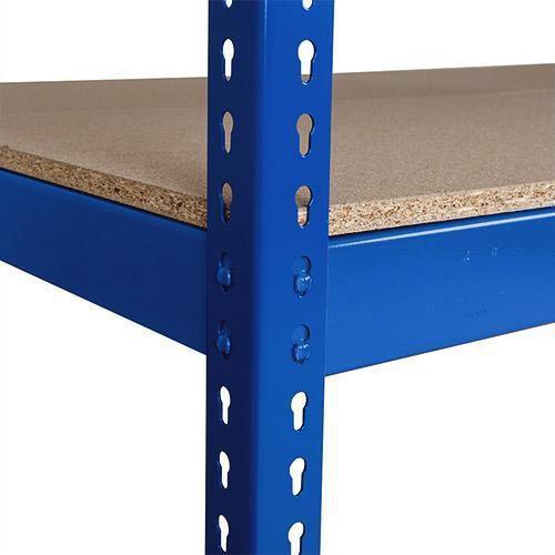 Přídavné dřevotřískové police, 180 cm, 375 kg, modré