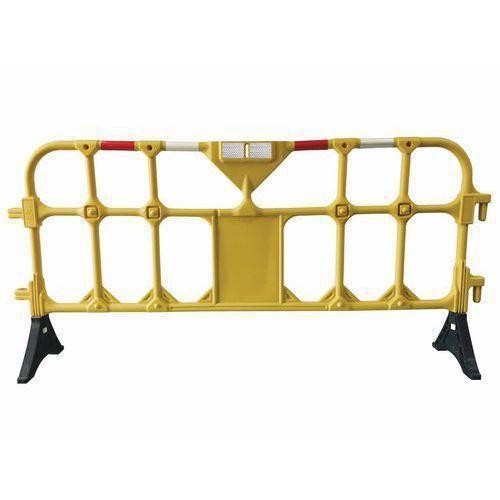 Přestavitelná plastová bariéra Manutan, 2 m, žlutá