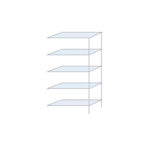 Kovový regál, přístavbový, 200 x 100 x 40 cm, 1 300 kg, 5 polic,