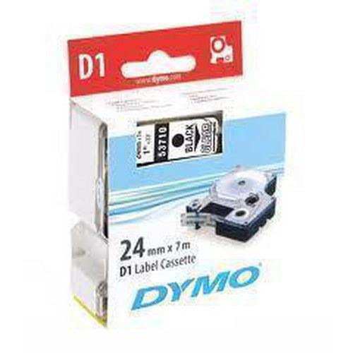 Páska D1, šířka 24 mm, bílá, černý tisk