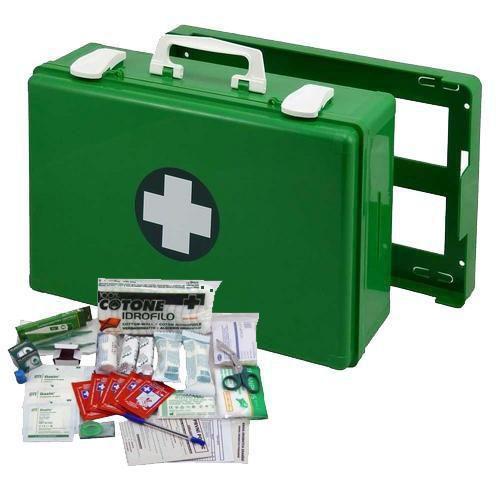 Plastový kufr první pomoci se stěnovým držákem, 27 x 40 x 14 cm,