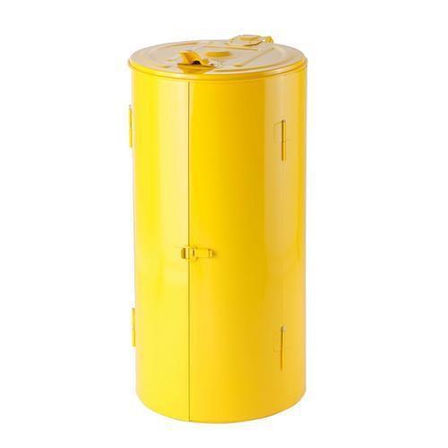 Stojan Meva na odpadkové pytle s víkem, žlutý